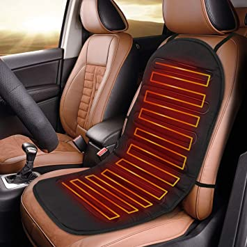 Navaris Auto Sitzheizung Sitzauflage 12 24v 2 Heizstufen 95x45cm Autositz Heizung Auflage Beheizbare Autositzauflage Für Pkw Lkw Wohnmobil Auto