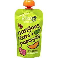 Ella's Kitchen Organic Puree, Mangoes, Pears And Papayas - 120 gm
