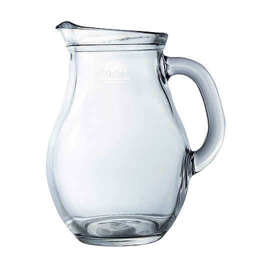 Jarra de agua de cristal transparente, jarra de té | bebida, zumo ...