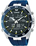 Lorus - RW617AX9 - Montre Homme - Quartz - Analogique et digitale - Chronomètre/Lumineuses/Alarme/Boussole - Bracelet Caoutchouc Bleu