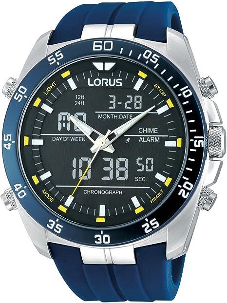 Lorus Reloj Analógico de Cuarzo para Hombre con Correa de Goma – RW617AX9