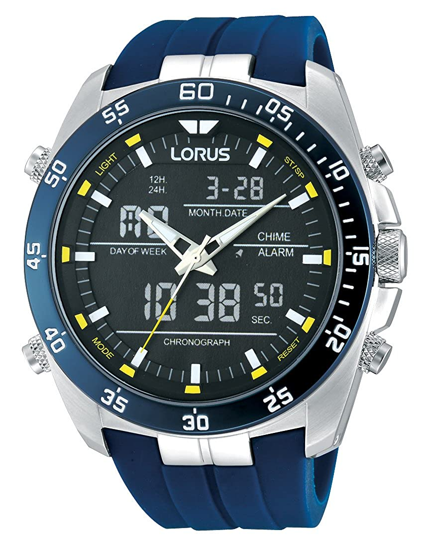Amazon.com: Lorus Mens Quartz Watch with Rubber Strap – RW617AX9: Watches