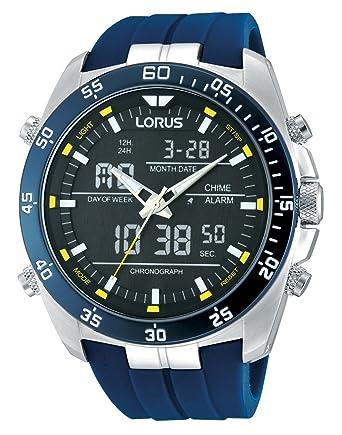 Lorus Reloj Analógico de Cuarzo para Hombre con Correa de Goma - RW617AX9: Amazon.es: Relojes