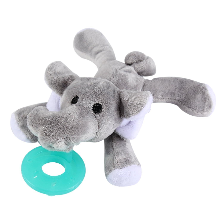 evedy pacifier holder stuffed elephant pacifiers