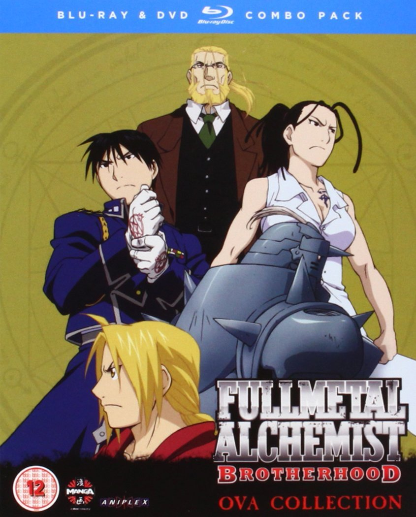 Fullmetal Alchemist Brotherhood 4 OVA Blu-ray/DVD Combi with Digital Comic Reino Unido Blu-ray: Amazon.es: Rie Kugimiya, Keiji Fujiwara, Romi Park, Fumiko Orikasa, Hiromu Arakawa, Rie Kugimiya, Keiji Fujiwara: Cine y Series TV