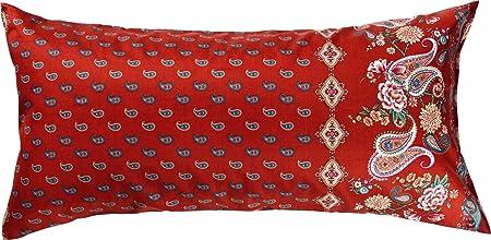 Bassetti FABRIANO Funda de cojín, algodón, Rojo, 40 x 80 cm ...