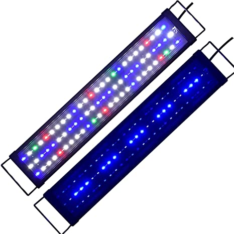 Lámpara de Acuario Aquarien ECO Iluminación de Acuario Acuario LED Azul Blanco Rojo Verde Espectro Completo ...
