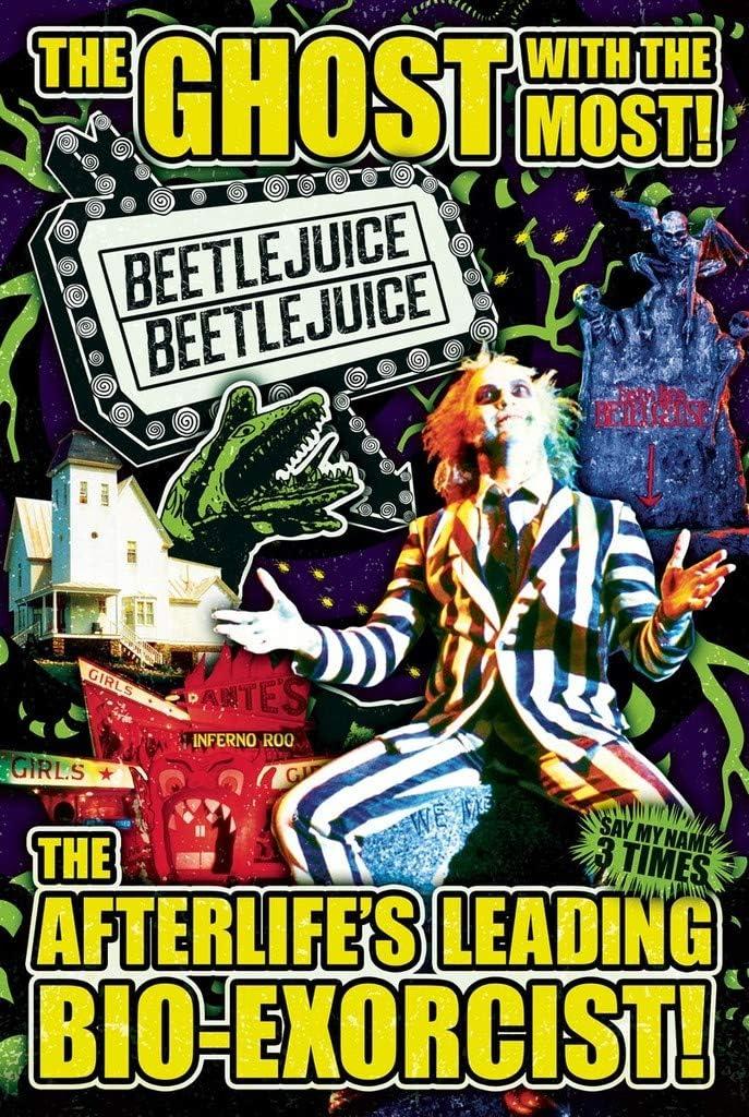 Studio B Beetlejuice Collage Movie Poster 24x36 inch