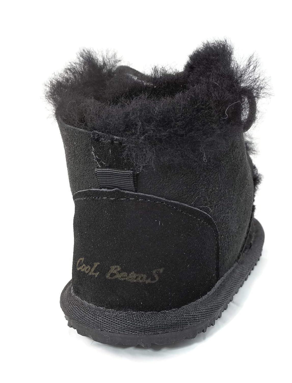 Baby//Toddler//Little Kids Genuine Leather//Fur CooL BeanS Boys//Girls Sheepskin Winter Snow Boots 8201