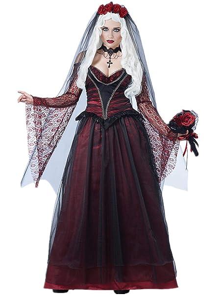 Lecoyeee Disfraz Día de los Muertos Disfraz de Catrina con ...
