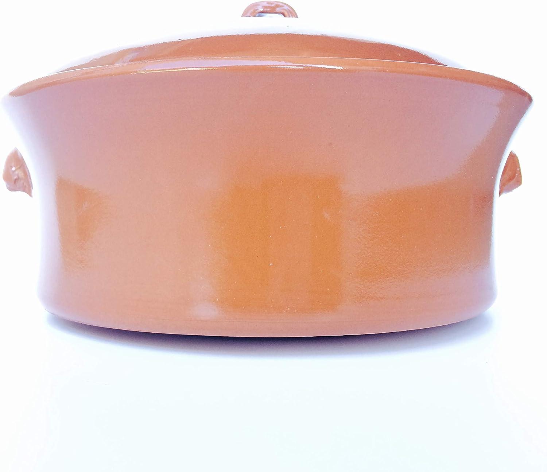Ikocat/® Cocotte en Terre Cuite diam/ètre 32cm marmite Artisanale apte vitroc/éramique