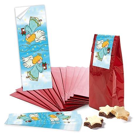 100 Bolsas Pequeñas weihnachtliche rojas azul blanco papel ...