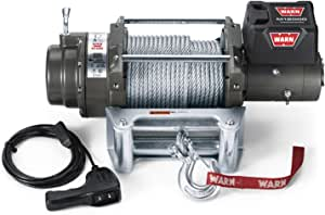 """WARN 17801 M12000 Series Electric 12V Heavyweight Winch with Steel Cable Wire Rope: 3/8"""" Diameter x 125' Length, 6 Ton (12,000 lb) Pulling Capacity"""