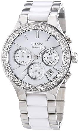 Dkny damen armbanduhr chronograph quarz verschiedene materialien ny8183