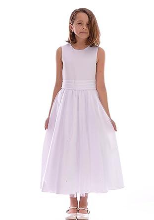 Poshtotz Mädchen Weiße Kleid mit Sequinn Design Hochzeit Taufe 6-12 ...