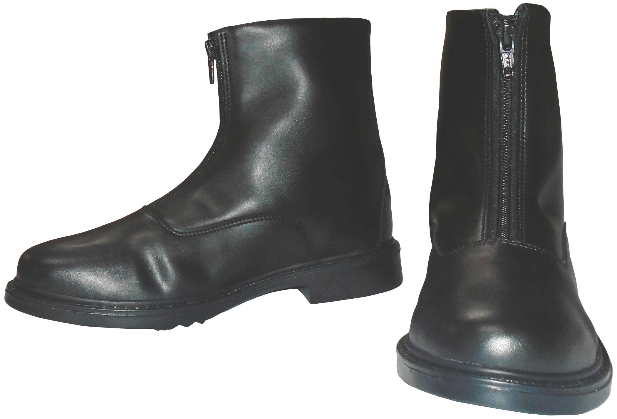 Tuffrider Winter Fleece-Lined Front Zip Paddock Boots Ladies Black 95 LD