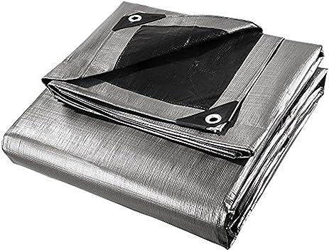 40-Foot by 60-Foot Double Duty Tarp Silver//Black