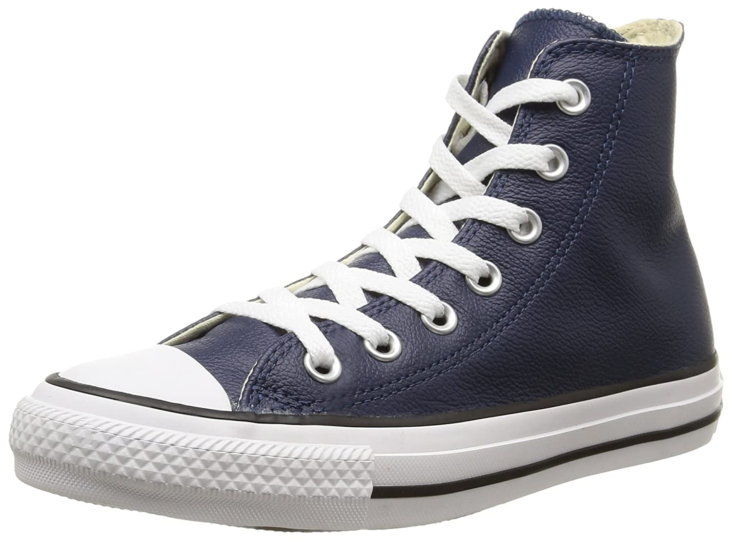 Converse Chuck Taylor All Star Leather High Top Sneaker B00QXVHQES 10 D(M) US|Nighttime Navy