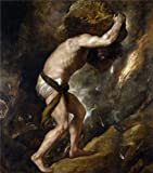 Oil Painting 'Titian [Vecellio Di Gregorio Tiziano] Sisyphus 1548 49', 18 x 20 inch / 46 x 52 cm , on High Definition HD canvas prints is for Gifts And Basement, Hallway And Powder Room Decoration
