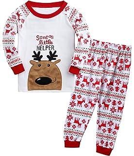 Dutebare Boys Christmas Pajamas Toddler Clothes Set Cotton Kids Stripe PJS  Sleepwear 13fcc02a4