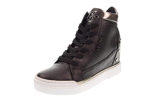 8c43130ff48d9 GUESS Zapatos Mujer Zapatillas Altas con cuña Interna FL5FNLFAL12 Bianco   Amazon.es  Zapatos y complementos