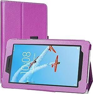 Lenovo Tab E8 Case, EpicGadget Lightweight Cover Folio PU Leather Folding Stand Case for Lenovo E8 8 Inch Tablet 2018 (Purple)
