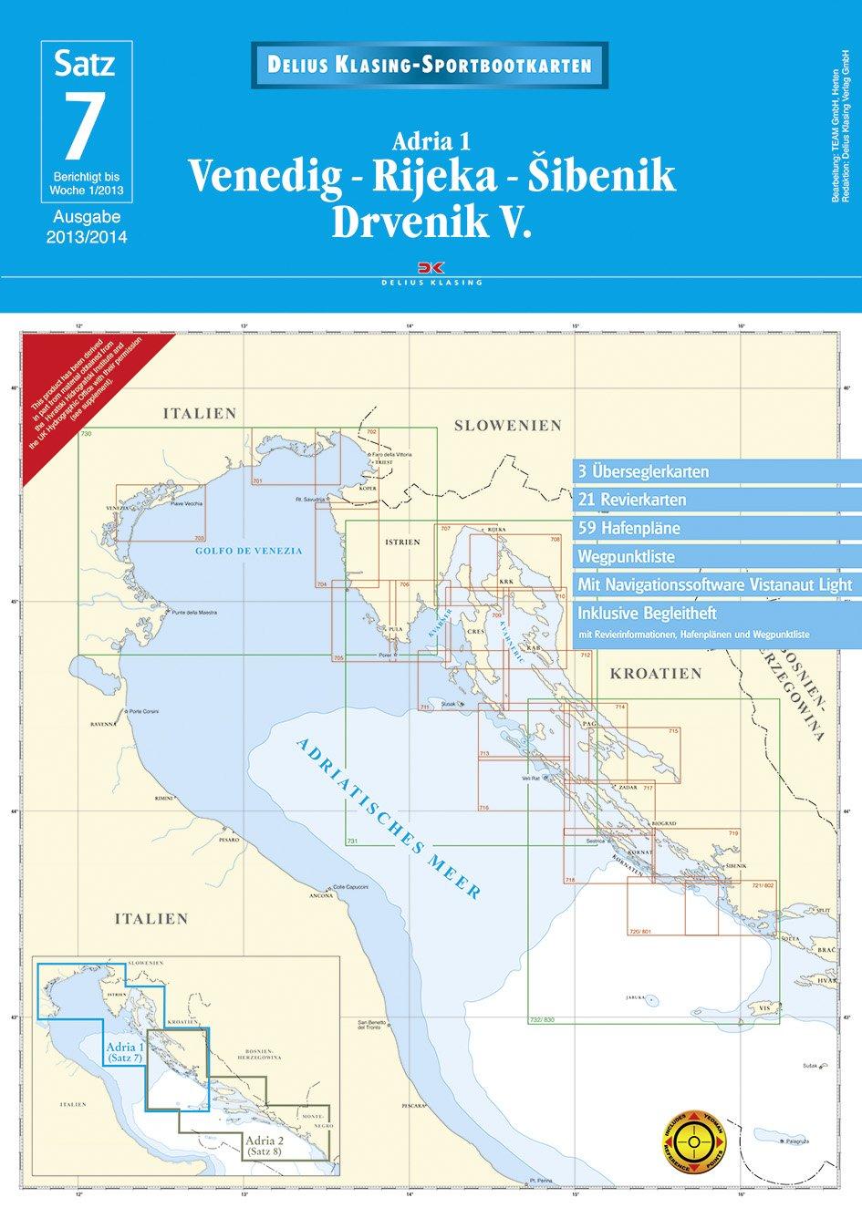 Satz 7: Venedig - Rijeka - Šibenik - Drvenik V. (2013/2014): Adria 1