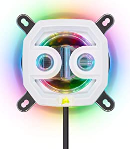 Corsair Hydro X Series, XC7 RGB White CPU Water Block,16 Individually addressable RGB LEDs, Software-Enabled, 1200/AM4