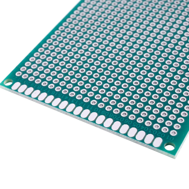 Nrpfell 5pcs 6x8cm Double-cote Prototype PCB Universel panneau de Circuit imprime