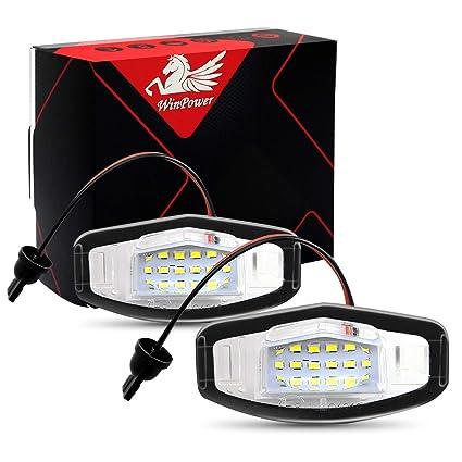 WinPower LED Luces de matrícula para coche Lámpara Numero plato ...