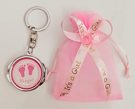Amazon.com: 12 ITS A GIRL KEY CHAIN MIRROR. 12 ORGANZAS ...