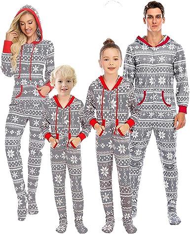 Webuyii Family Christmas Pijamas a Juego de algodón de Manga ...
