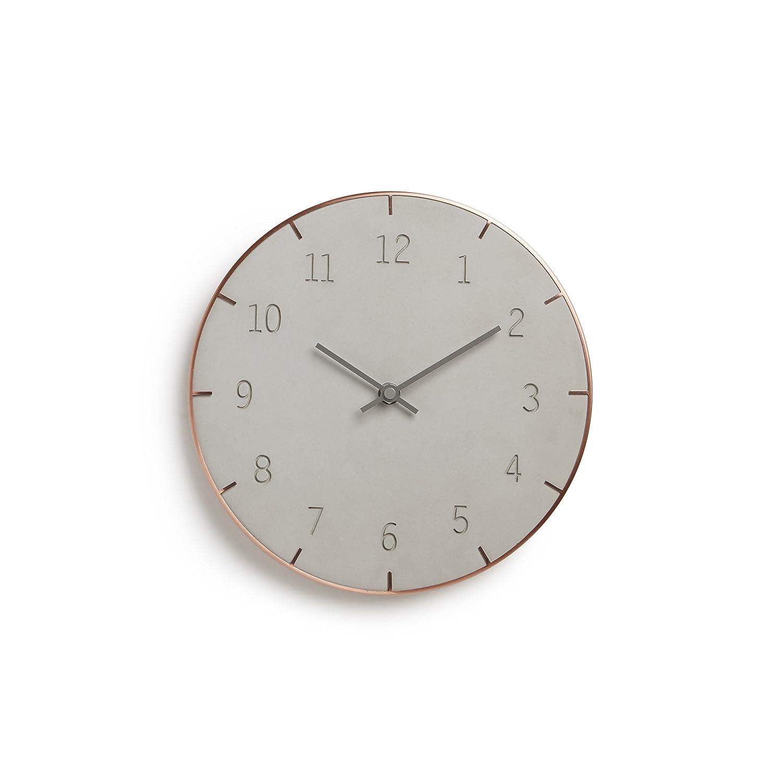 umbra PATTO CLOCK(ピアット ウォールクロック) コンクリート/コパー 2118421-713 B010XD6OUS