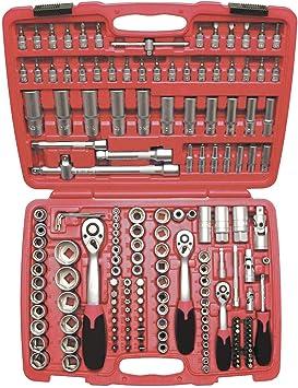 Hengmei 171 piezas Juego de llaves tubulares de carraca Caja de carraca Juego de llaves de carraca Caja de llaves de vaso: Amazon.es: Bricolaje y herramientas