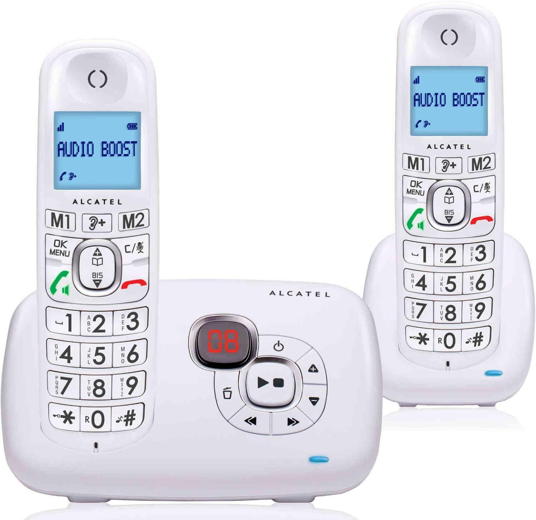 Alcatel XL385 Voice Duo - Teléfono (Teléfono DECT, Terminal inalámbrico, Altavoz, 50 entradas, Identificador de Llamadas, Blanco): Amazon.es: Electrónica