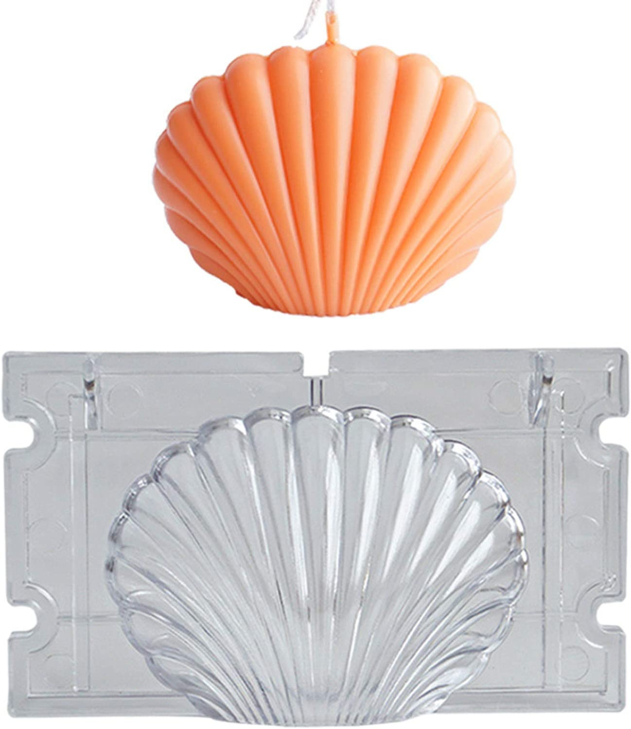 Scented Candle Mold Seashell Scallop Shell Candle Mold Handmade Soap Mould DIY
