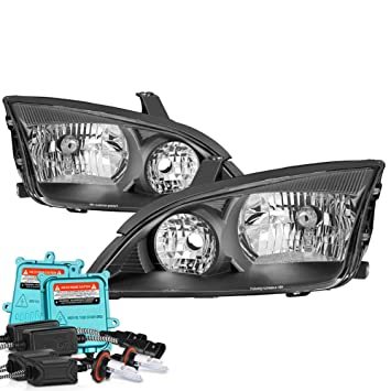 Vipmotoz   Ford Focus Headlights Built In Xenon Hid Low Beam Matte