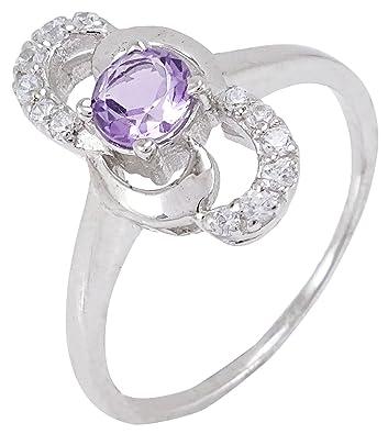 Banithani 925 Sterling Silver Amazing Amethyst Gemstone Ring Fashion Jewellery eWJQ31d