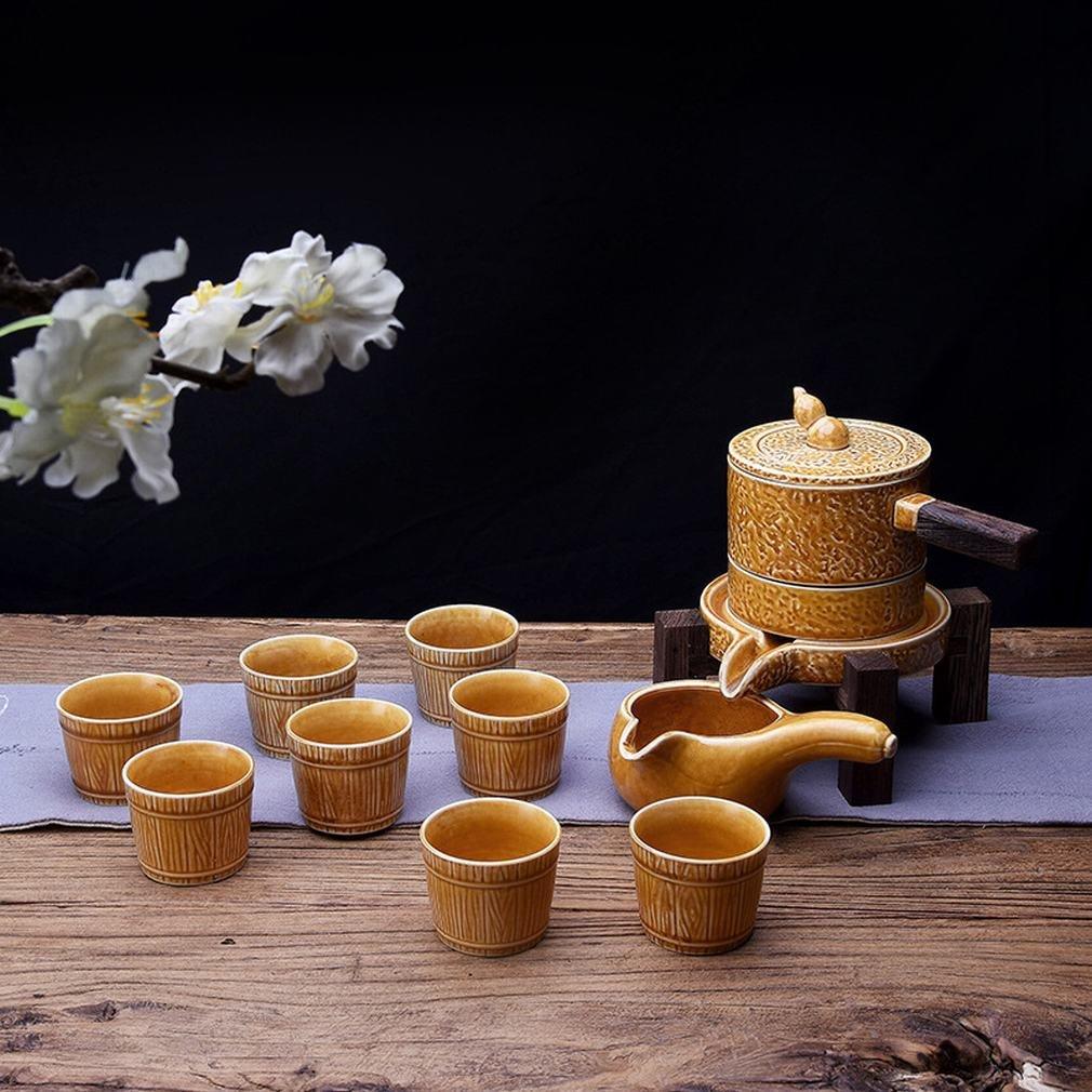 L Y Automatische Tee-Set Kung Fu Set Keramik Kreativ Steingut Tee-Set Vintage Faule Momentane Tee-Hersteller mit Geschenk-Box