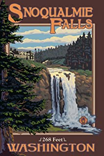 product image for Snoqualmie Falls, Washington - Day (24x36 Giclee Gallery Print, Wall Decor Travel Poster)