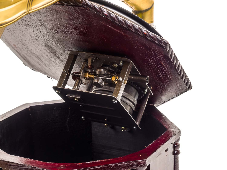 Aubaho Grammophon 70cm Trichtergrammophon Schellackplatte Schellackplatte Schellackplatte Grammofon antik Stil verziert B00DU83QZK Spieluhren 75f00f