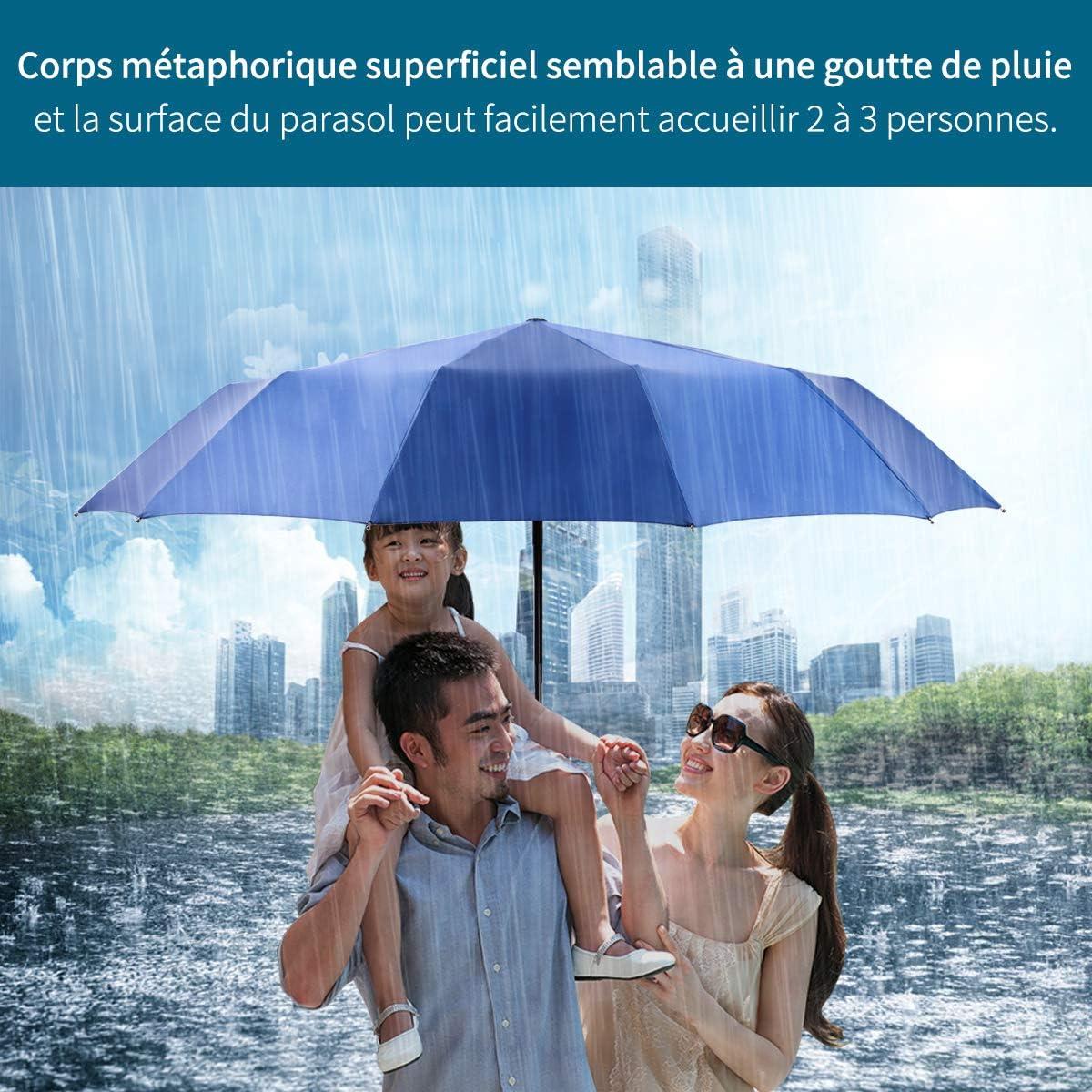 Parapluie de Voyage Automatique Ouvert ferm/é Pliant Fort Coupe-Vent Irlandais Setter Chien Parapluie