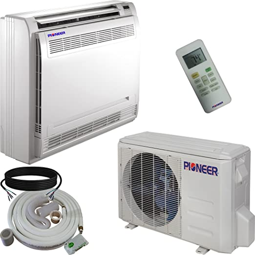 Amazon Com Pioneer Floor Console Split Ductless Inverter With Heat Pump System Set 12000 Btu Home Kitchen