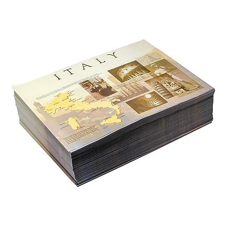 Amazon.com: Manteles individuales de papel festoneado a ...