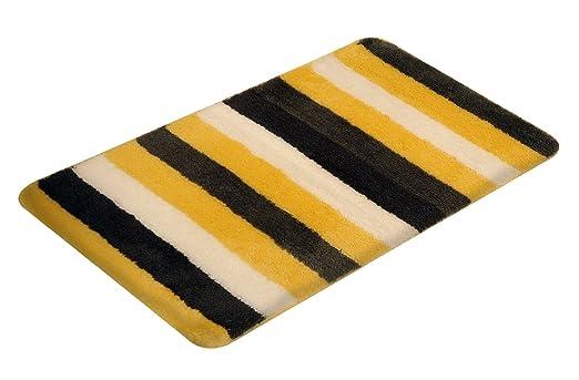 Vonella Badematte Badteppich Uno Gelb Grau 50 X 80 Cm Amazon