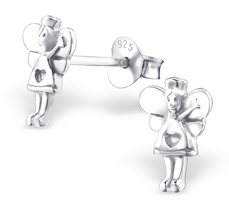 Best Wing Jewelry .925 Sterling Silver Fairy Childrens Stud Earrings