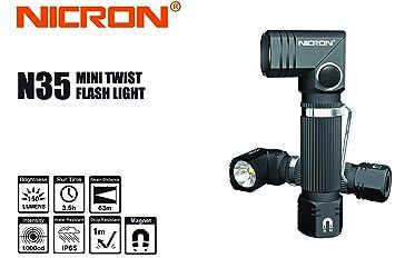Torsadée Tête Mini Lampe Led Nicron N35 Torche Magnétique À rtQxsCBhdo