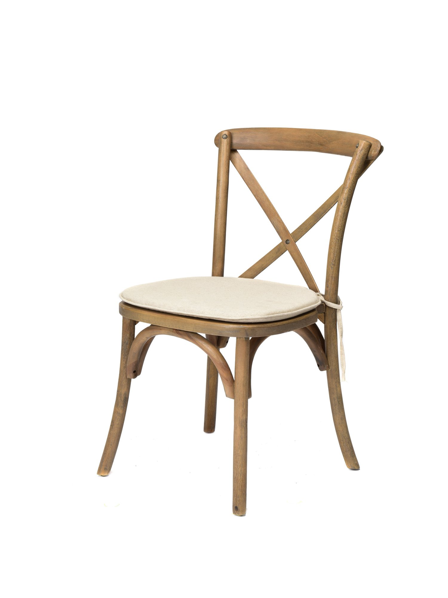 Commercial Seating Products W-700-X02-WH-C Sonoma Crossback Chair Solidwood