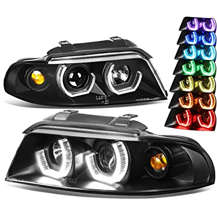 Amazoncom For Audi A4 B58d Black Housing 3d Led Halo Projector