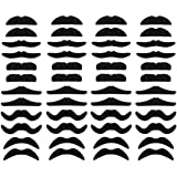 LuckyStar365 48 pcs Novelty Fake Mustaches, Mustache Party Supplies, Self Adhesive Mustaches for Masquerade Party…